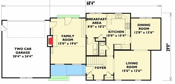 Plan 31515gf 4 Bed House Plan For A Shallow Lot House Plans House Floor Plans Bedroom House Plans