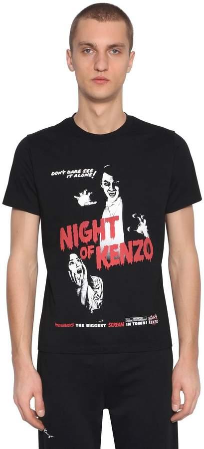b0bec6799 Kenzo Horror Printed Cotton Jersey T-Shirt | t-shirts of horror ...