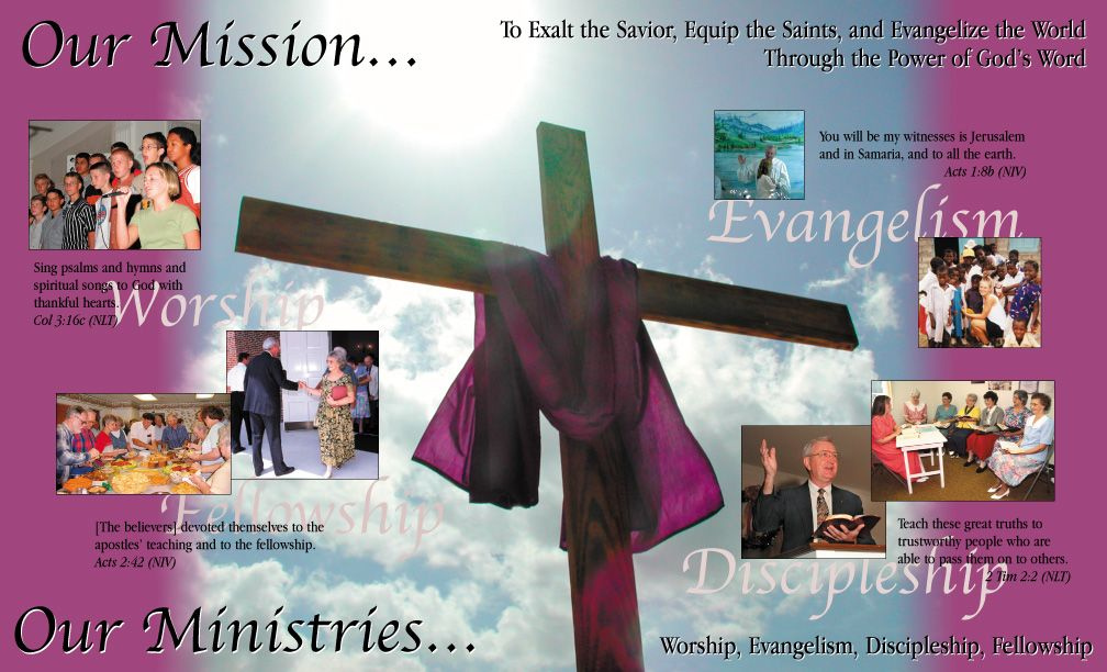 church brochure samples - eye catching design but not much - pamphlet sample