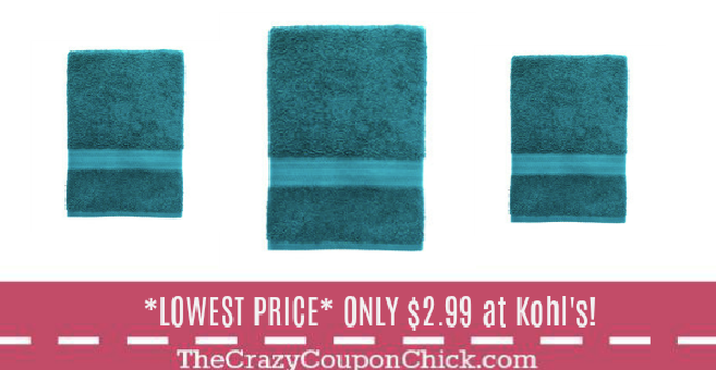 Kohls Bath Towels Interesting Lowest Price* The Big One Bath Towels Only $299 At Kohl's  The Decorating Design