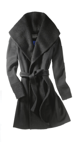 Calvin Klein A lux wrap coat for the elegant lady in your