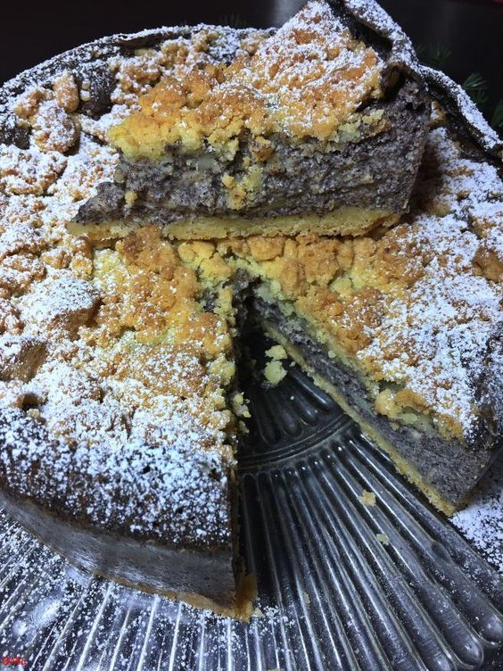 Photo of Poppy seed crumble cake … simple and good