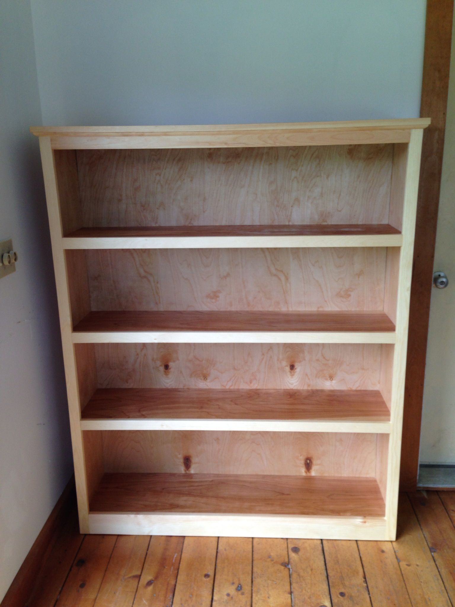 Easy Bookshelf Made With Kreg Jig And Furniture Grade Plywood