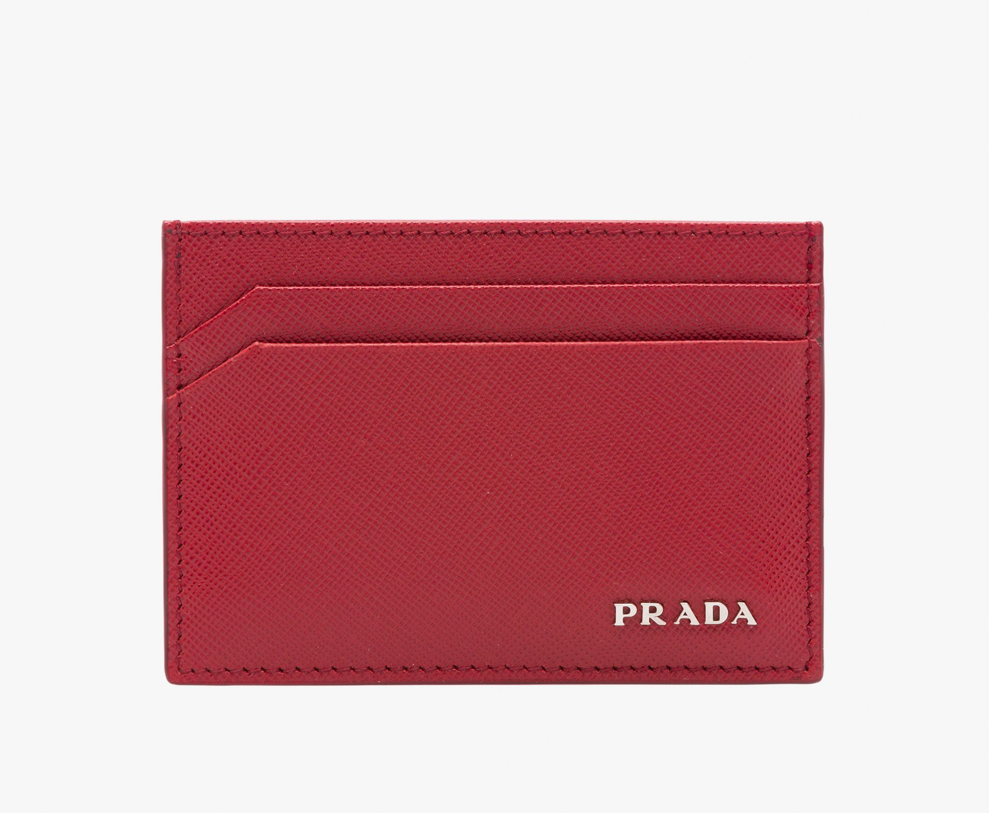 Prada Man Credit Card Holder Ruby Red MCQTDF - Commercial invoice template excel free download goyard online store