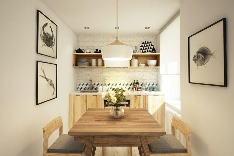 Einrichtung Idee im skandinavischen Stil mit hellen Küchen Möbeln ...