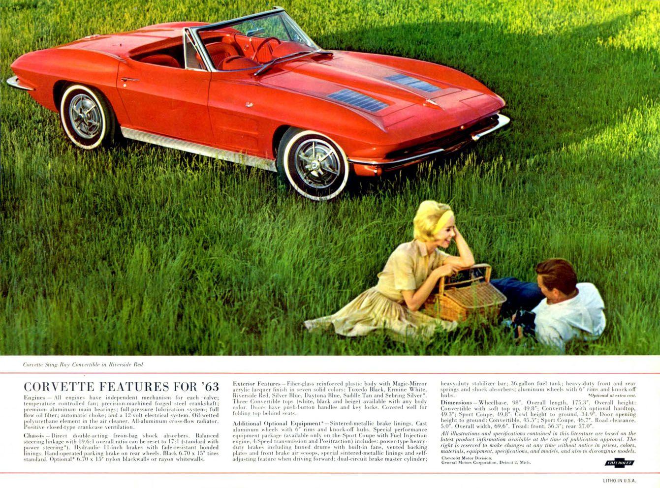1963 Corvette | Muscle Car Ads | Pinterest | Corvette, Cars and ...