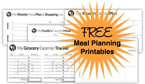 Free menu planning templates available to download, customize and