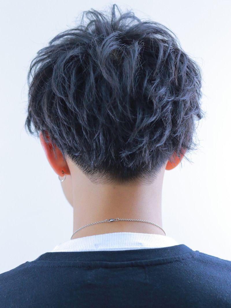Amiru ブルーブラックブラスト Backサムネイル メンズ ヘアスタイル