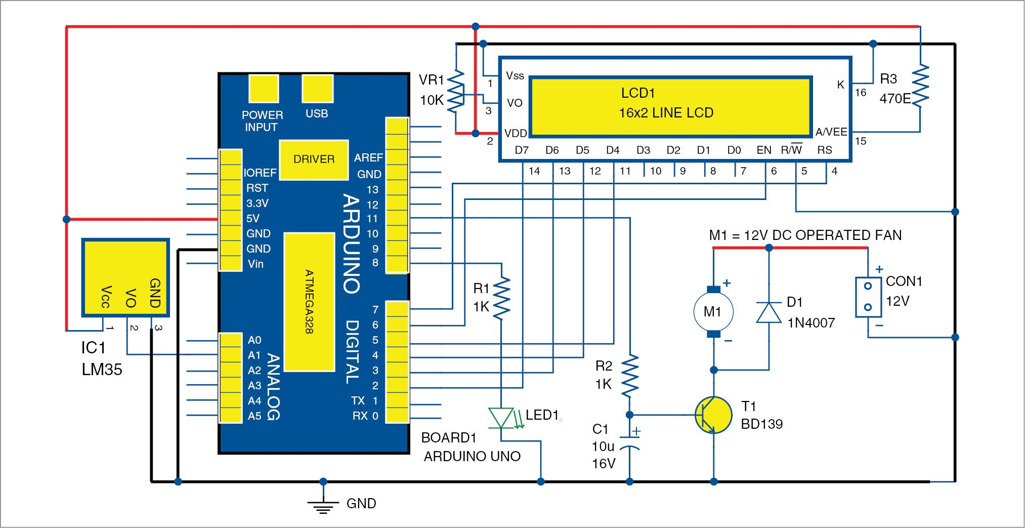 Temperature Based Fan Speed Control And Monitoring Using Arduino Colorsensorcircuit Color Sensor Robotic Microcontroller This Project Is An Automatic That Controls The Of Electric According To Requirement