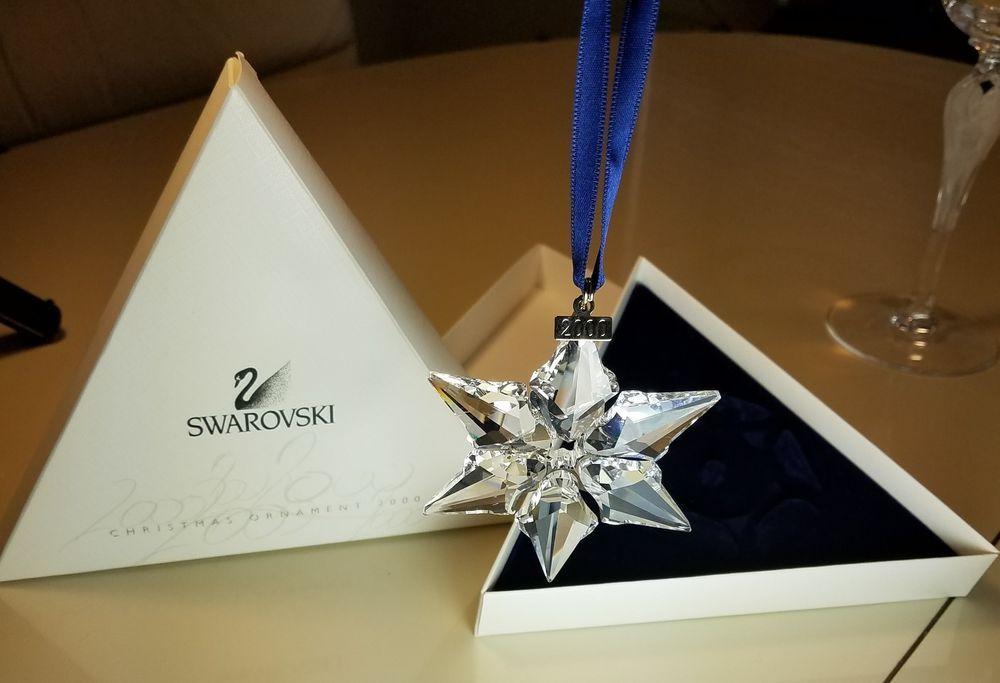 9fb1fb8fcbb4 2000 Swarovski Crystal Annual Ltd Edition Christmas Ornament New In Box  (eBay Link)
