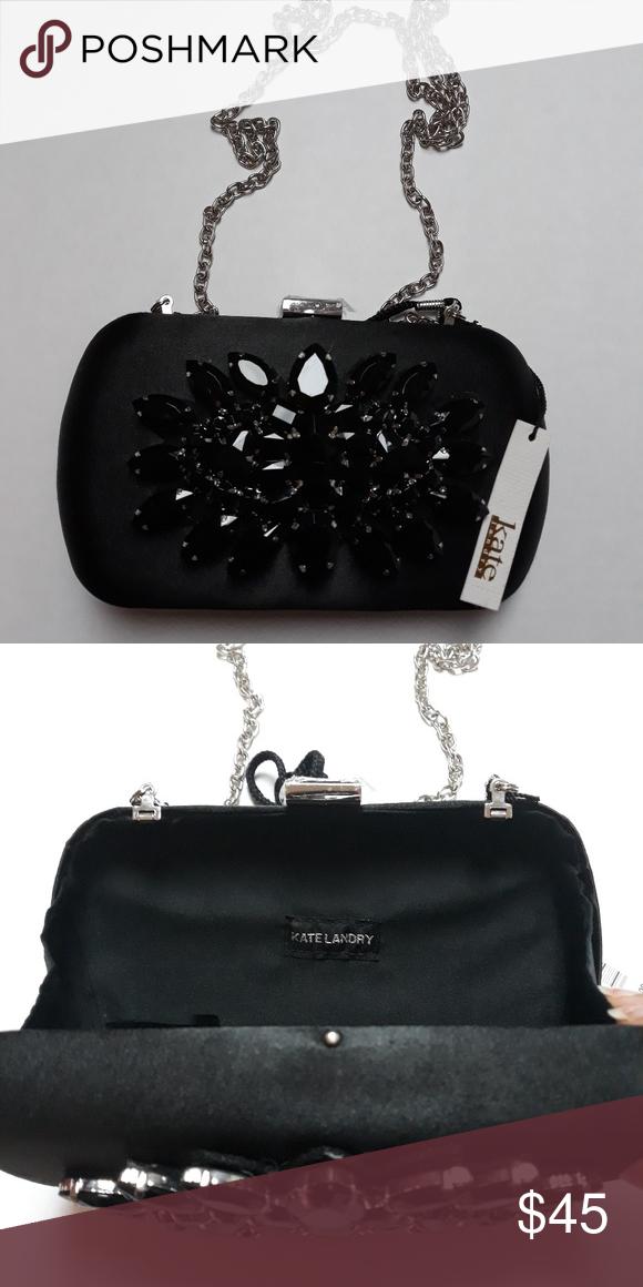 69472137a8b6 KATE LANDRY Black clutch purse Kate Landry Bags Clutches   Wristlets ...
