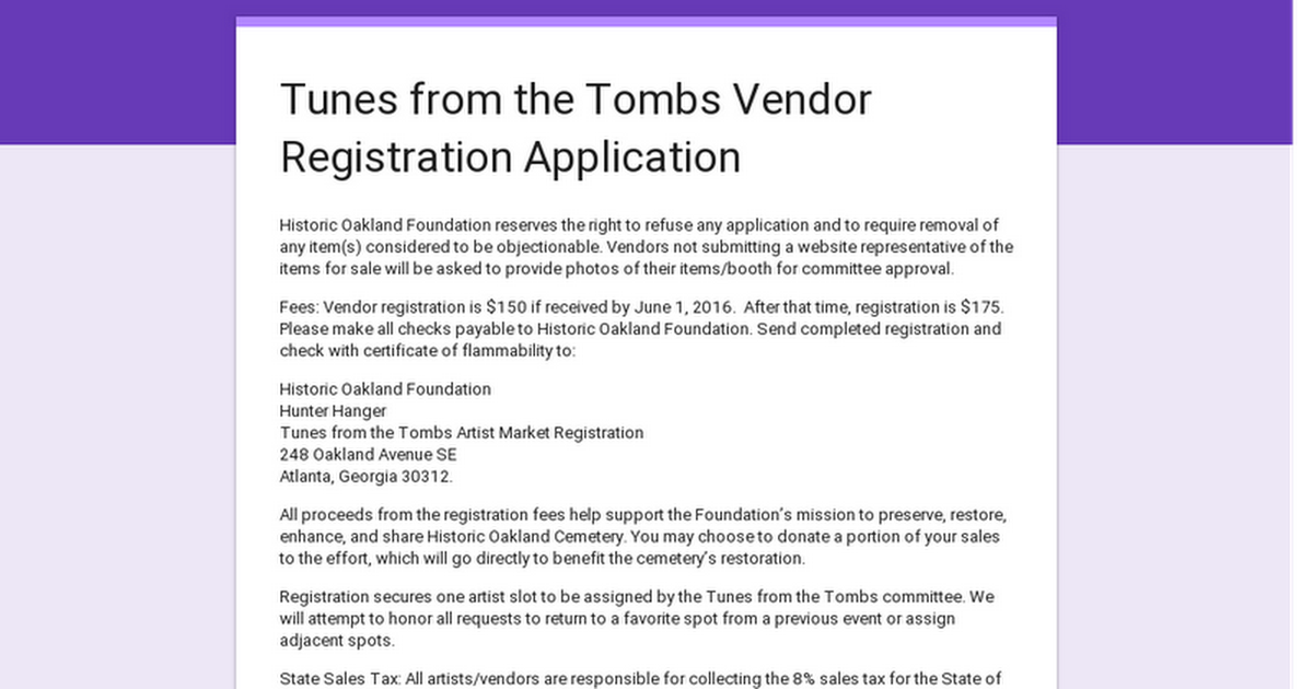 Be A Part Of The Tunes From The Tombs  Artist Market By