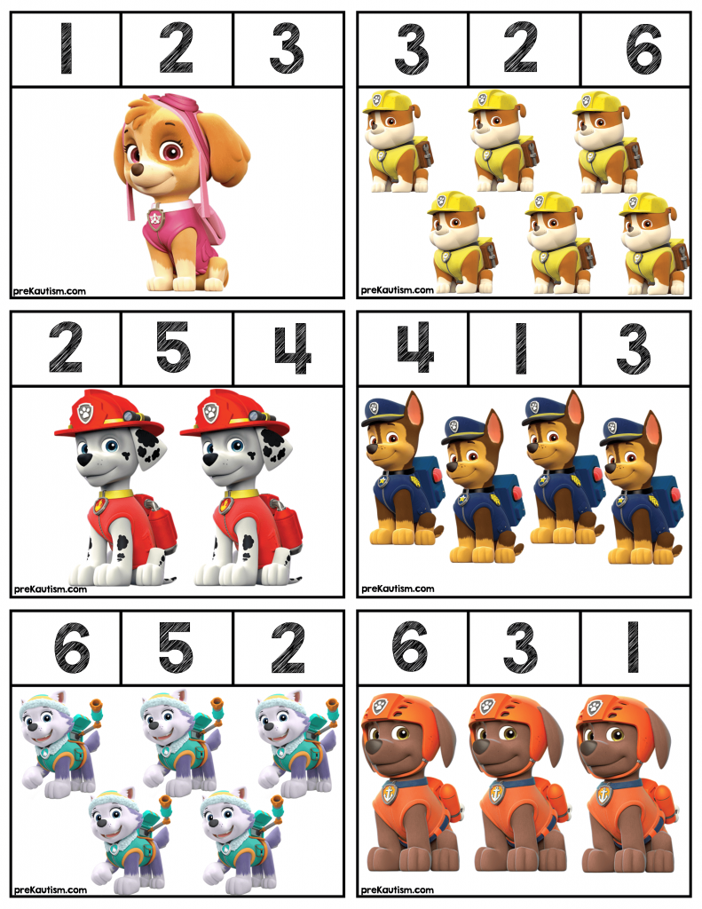 Free Paw Patrol Number Clip Cards Numbers Preschool Preschool Activities Math Activities Preschool [ 1024 x 791 Pixel ]