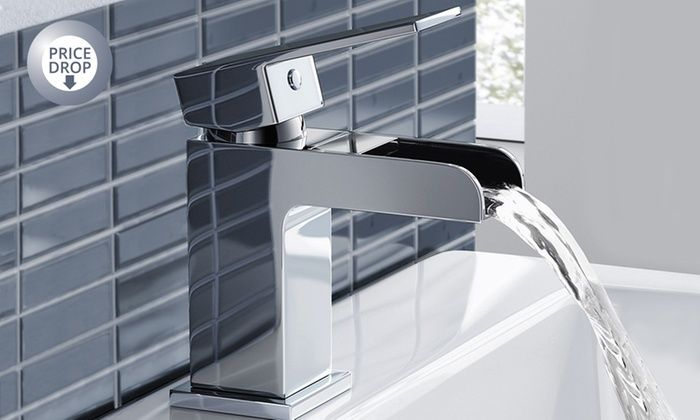 Groupon Goods Global GmbH: Waterfall Chrome Bathroom Tap from £24.98 (Up to 38% Off)