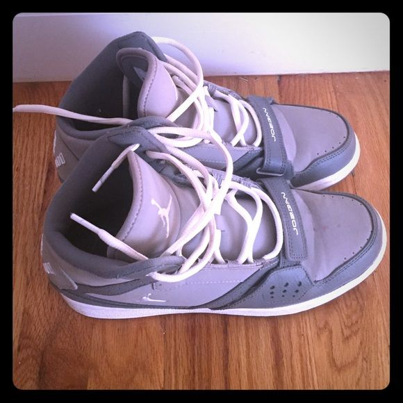 Jordan's Gray Jordan's, in good condition. Shoes Sneakers