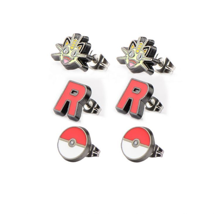 Pokemon pokemon team rocket r enamel pendant stainless steel necklace meowth tattoo choker pinterest pokemon team rocket team rocket and pokemon