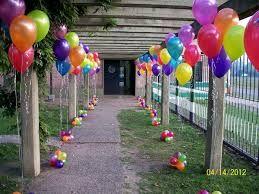 Decoracion Fiesta Infantil Globos Colores Buscar Con Google Globos Decoracion De Fiestas Infantiles Globos Helio Decoracion