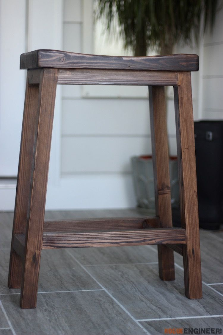 Counter Height Bar Stool | Rogue Engineer DIY Plans | Pinterest ...
