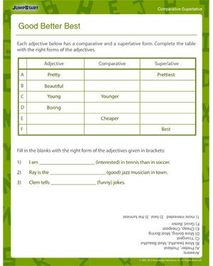 Good Better Best - Elementary Grammar Worksheet | worksheets ...