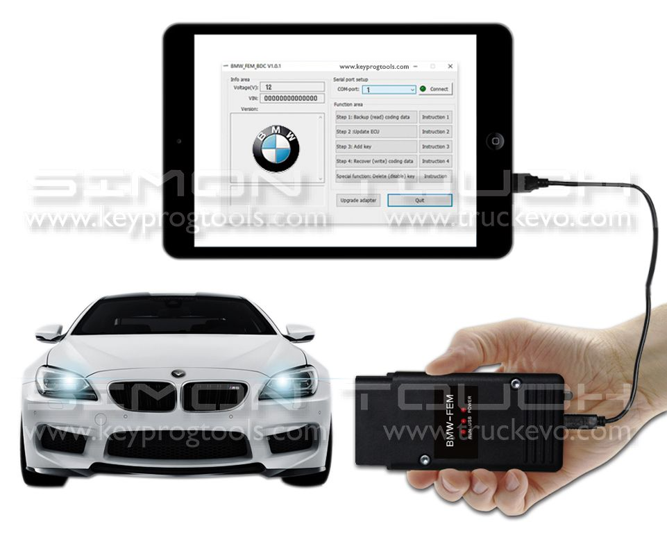 FEM KEY PROGRAMMING BY OBD Support latest BMW/MINI FEM Versions by