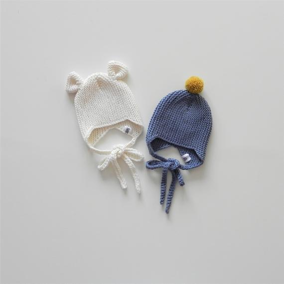 2920e30d16c Teddy Bear hat Baby Beanie Baby knitting bonnet Knitting baby hat Earflap  hat Handmade baby bonnet B