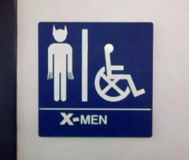 X Men Bathroom Sign Heres Your Sign Pinterest Man Bathroom