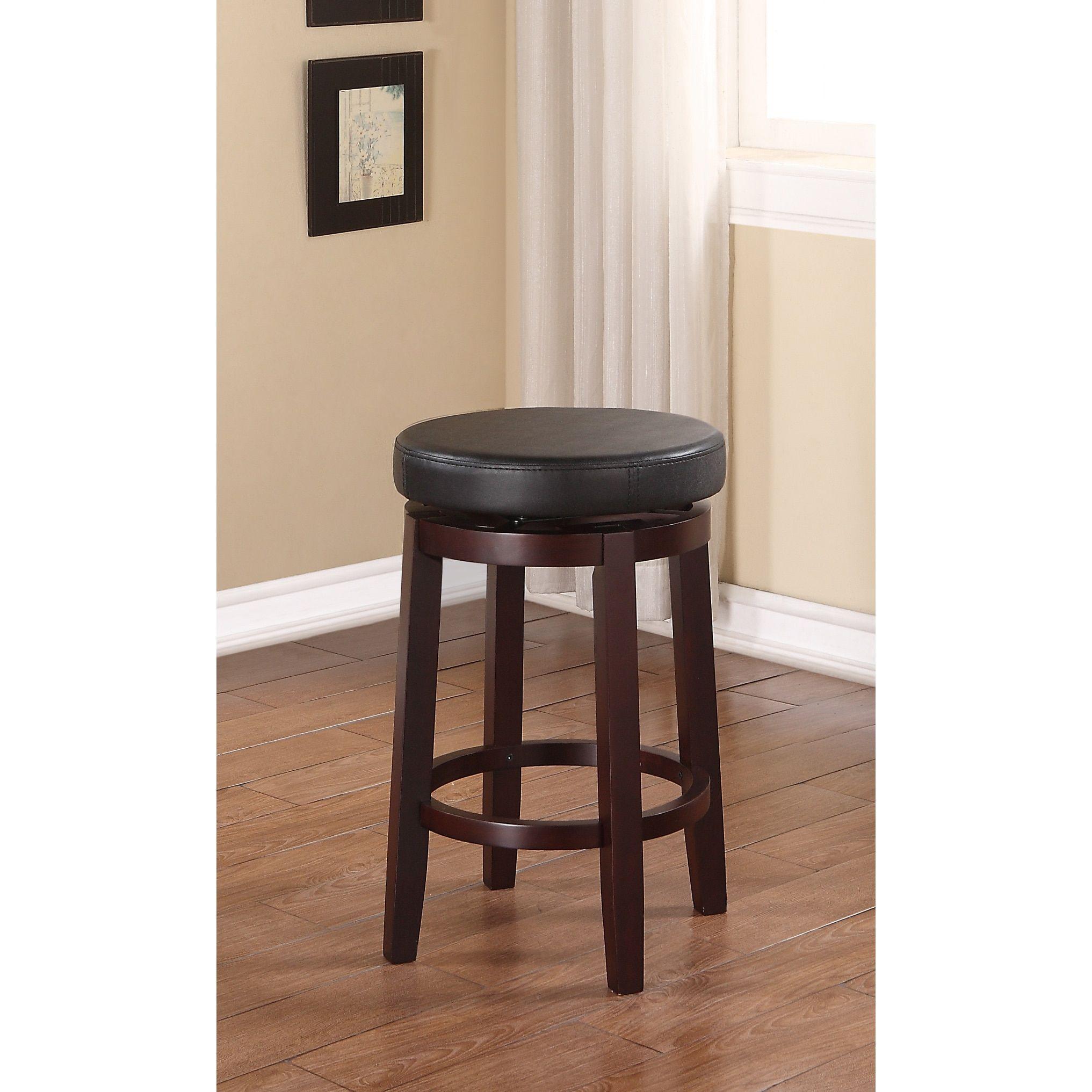 Linon Dorothy Backless Counter Stool Swivel Seat | Counter stools ...
