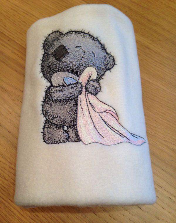 Teddy Bear In The Bathroom Machine Embroidery Design