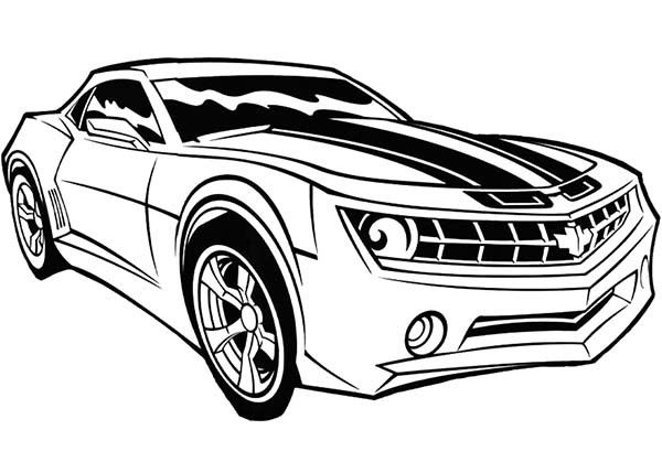 Transformers Coloring Pages 240 Transformers Bumblebee Car ...