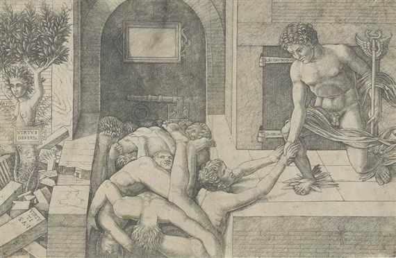 Andrea Mantegna, Allegory of the Rescue of Humanity (Virtus Deserta)