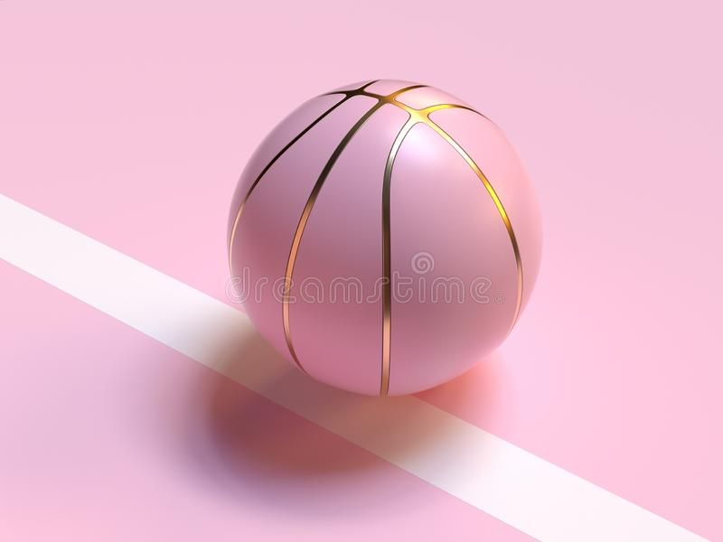 Pink Pastel Gold Abstract Ball Basketball 3d Render Sport Object Concept Stock Illustration Pink Basketball Pink Girly Things Pink Aesthetic Abstract basketball iphone wallpaper