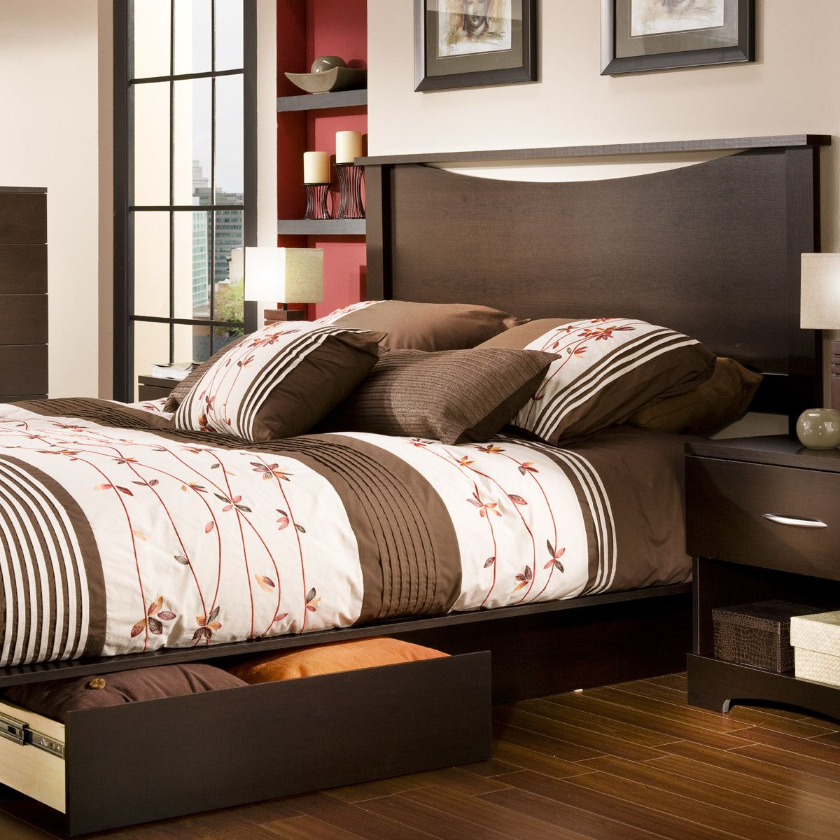 South Shore Infinity Queen Storage Platform Bed Platform