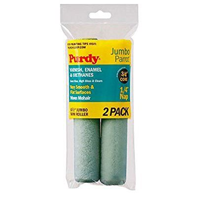 Purdy 140626040 Jumbo Mini Parrot Roller Replacement 2 Pack 6 1 X2f 2 Inch X 1 X2f 4 Inch Nap Paint Rollers With Designs Home Improvement Roller