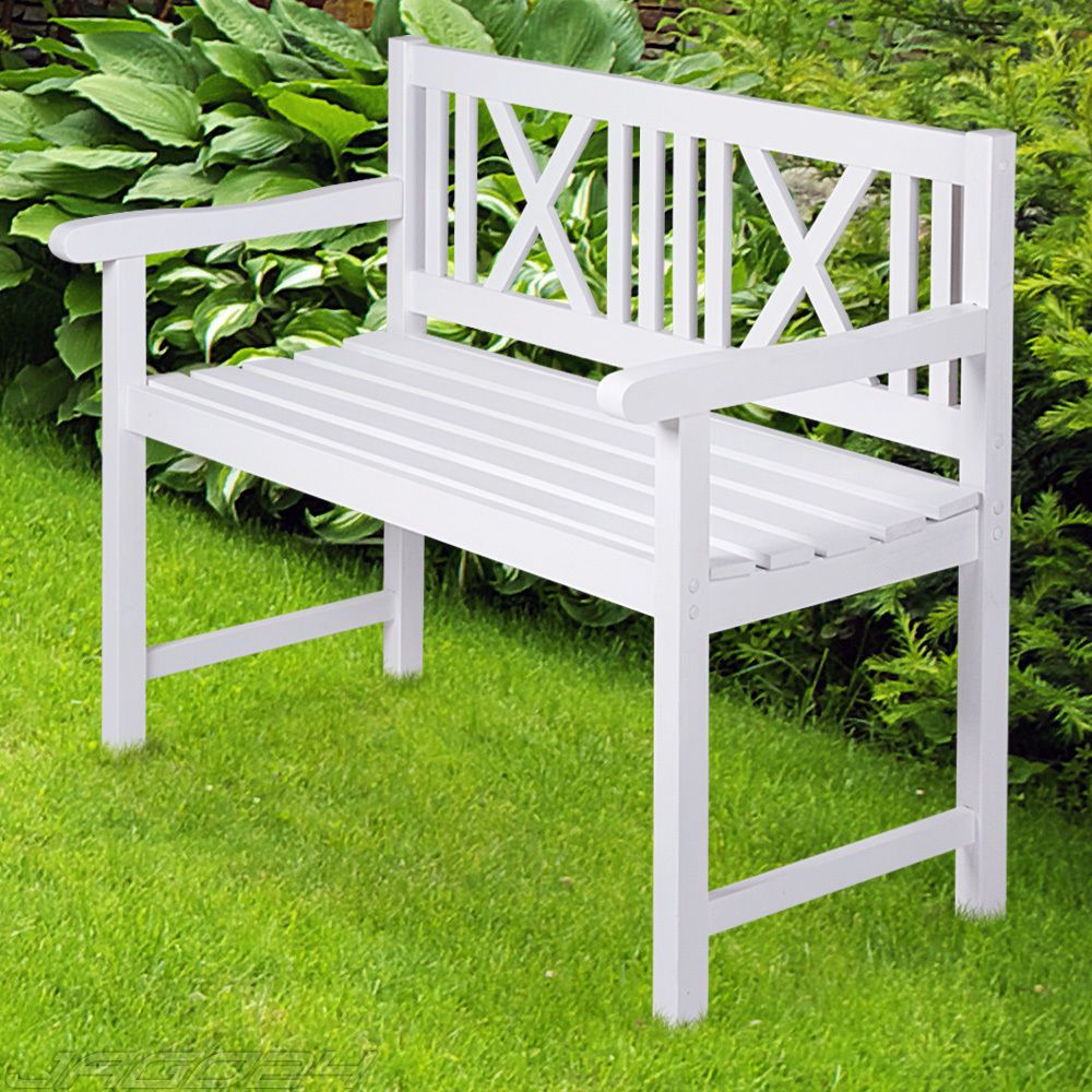 Banco de madera para jard n terraza asiento para exterior - Bancos madera exterior ...
