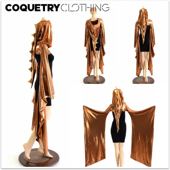 Copper Dragon Spiked Kimono Bolero with Long by CoquetryClothing