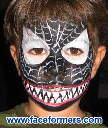Venom face painting in...