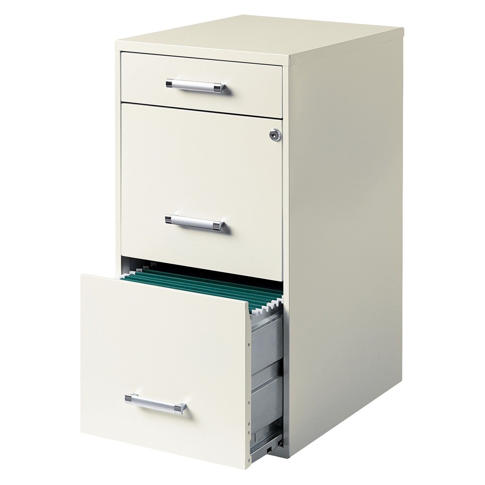 Hirsh 3-Drawer File Cabinet Steel  sc 1 th 224 & Hirsh 3-Drawer File Cabinet Steel | Office spaces Neutral and Drawers
