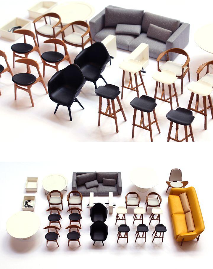 3d Printed Miniature Designer Furniture Barbie Furniture 3d Printed Furniture Modern Dollhouse Furniture