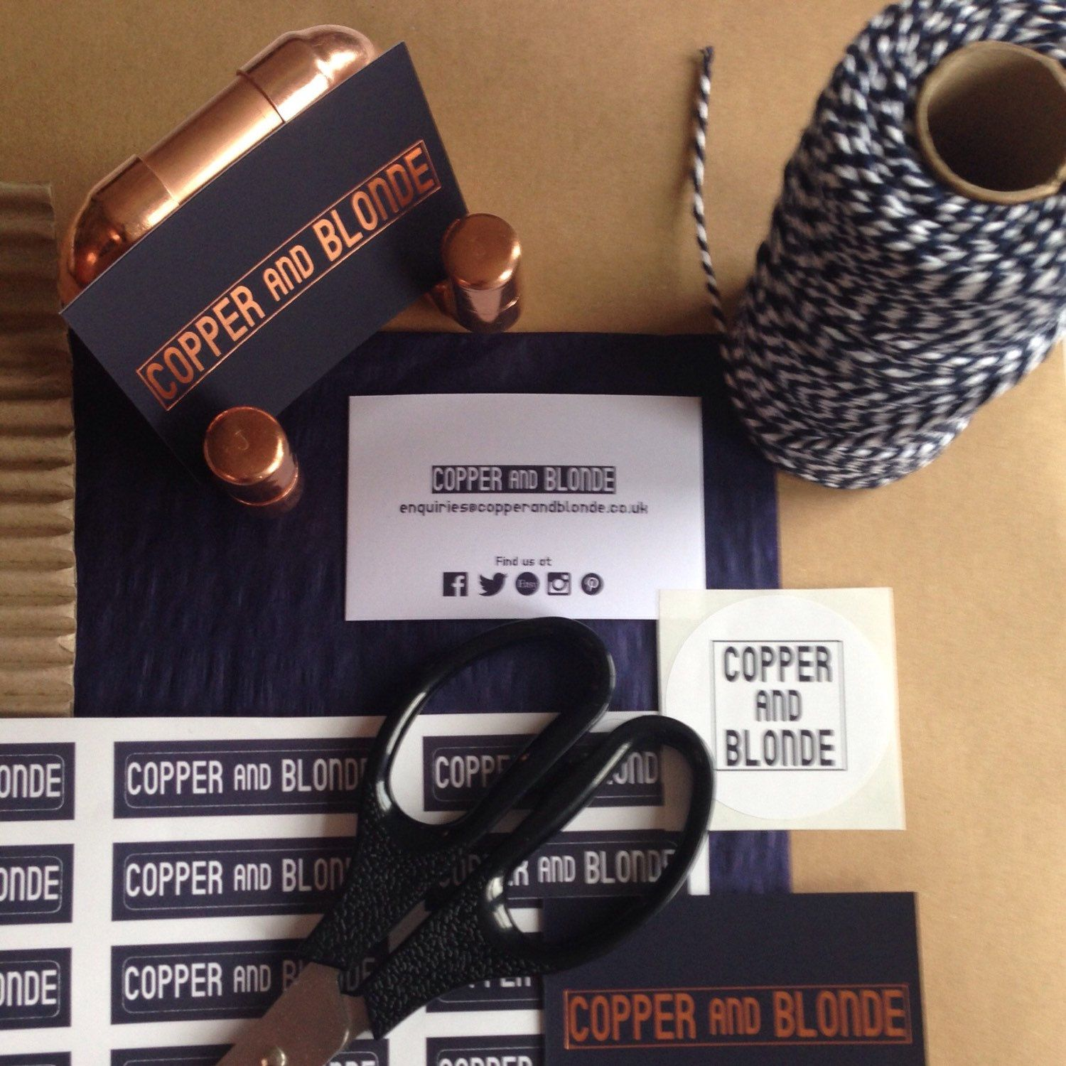Copper and Blonde branding. Packaging galore!