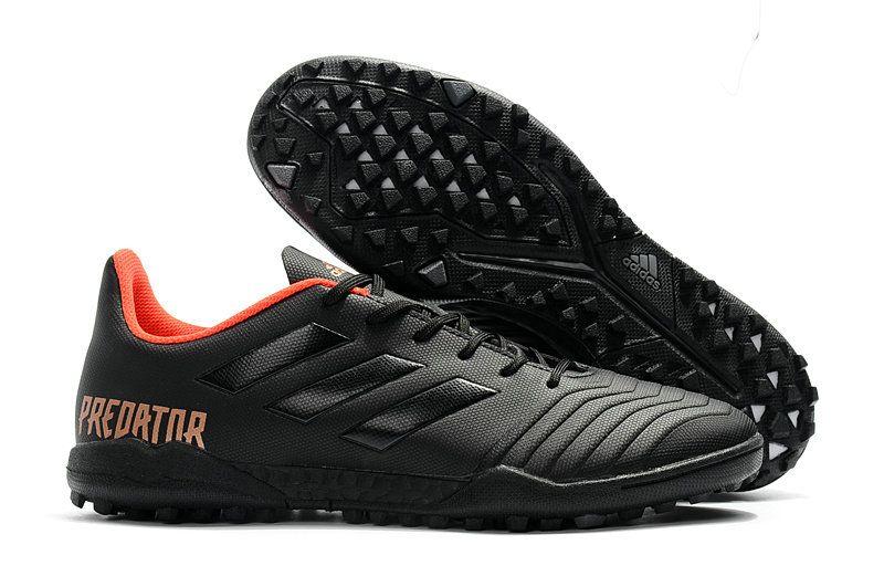 size 40 265e4 392ff Mens Adidas Predator Tango 18 4 Turf Soccer Boots EVA Core Black Orange Gold
