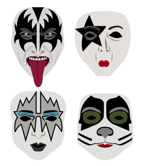 Kiss Band Faces: Image Result For Kiss Band Faces Vector