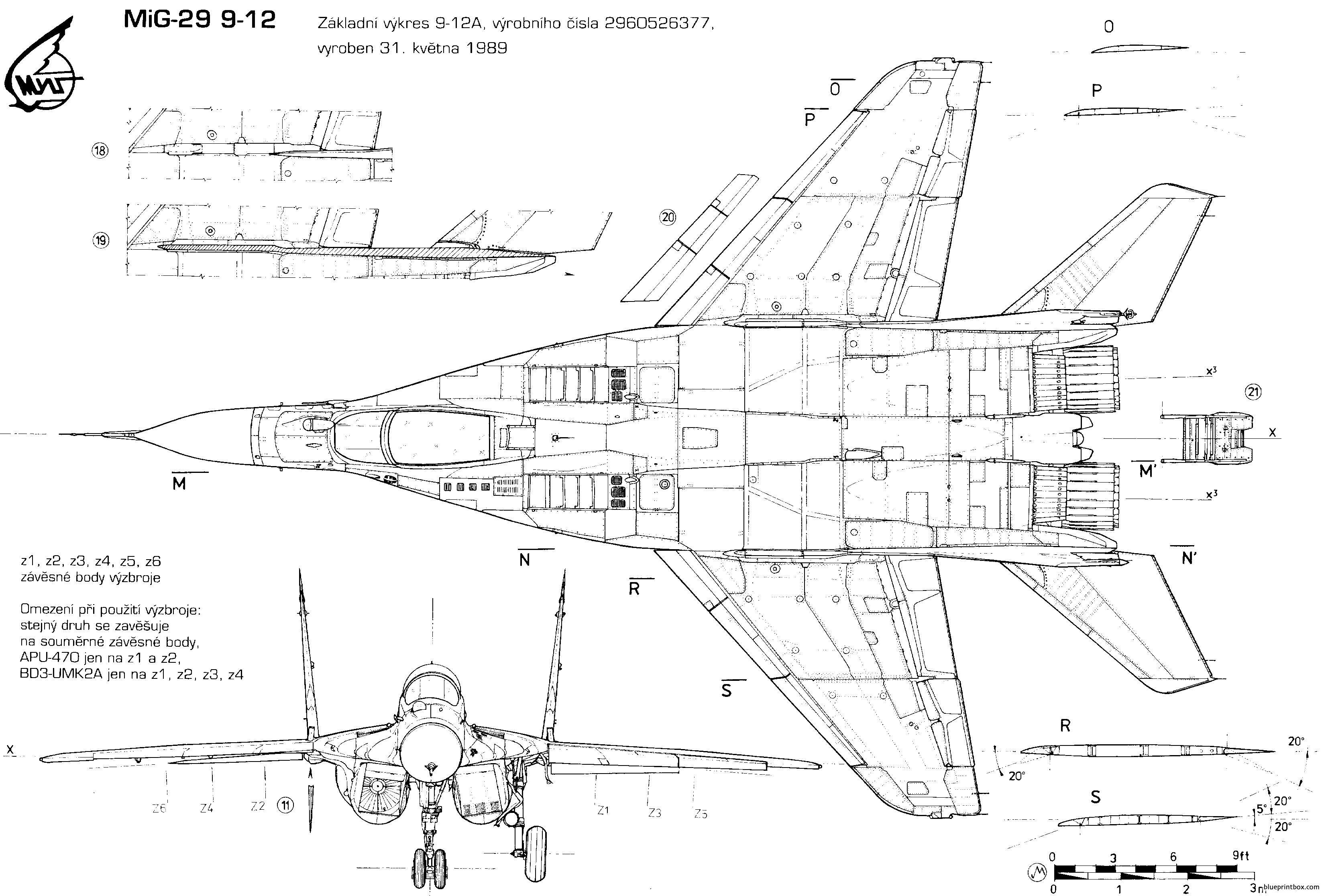 Dassault Mirage Blueprint Samoloty T Aircraft