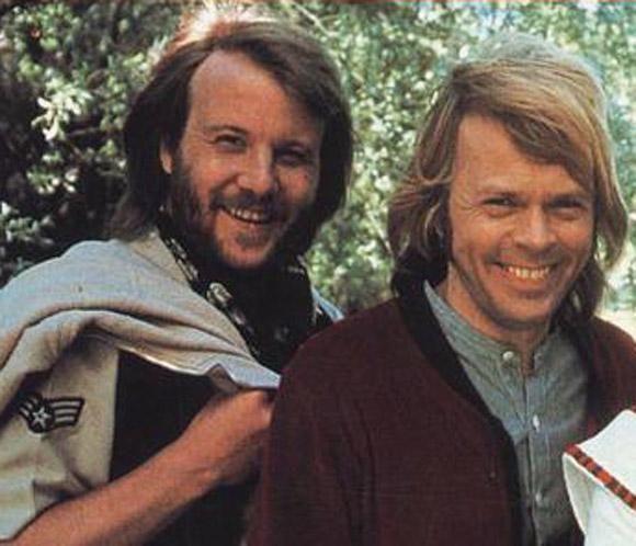 Björn Ulvaeus and Benny Andersson, 1977   Abba, Canciones ...