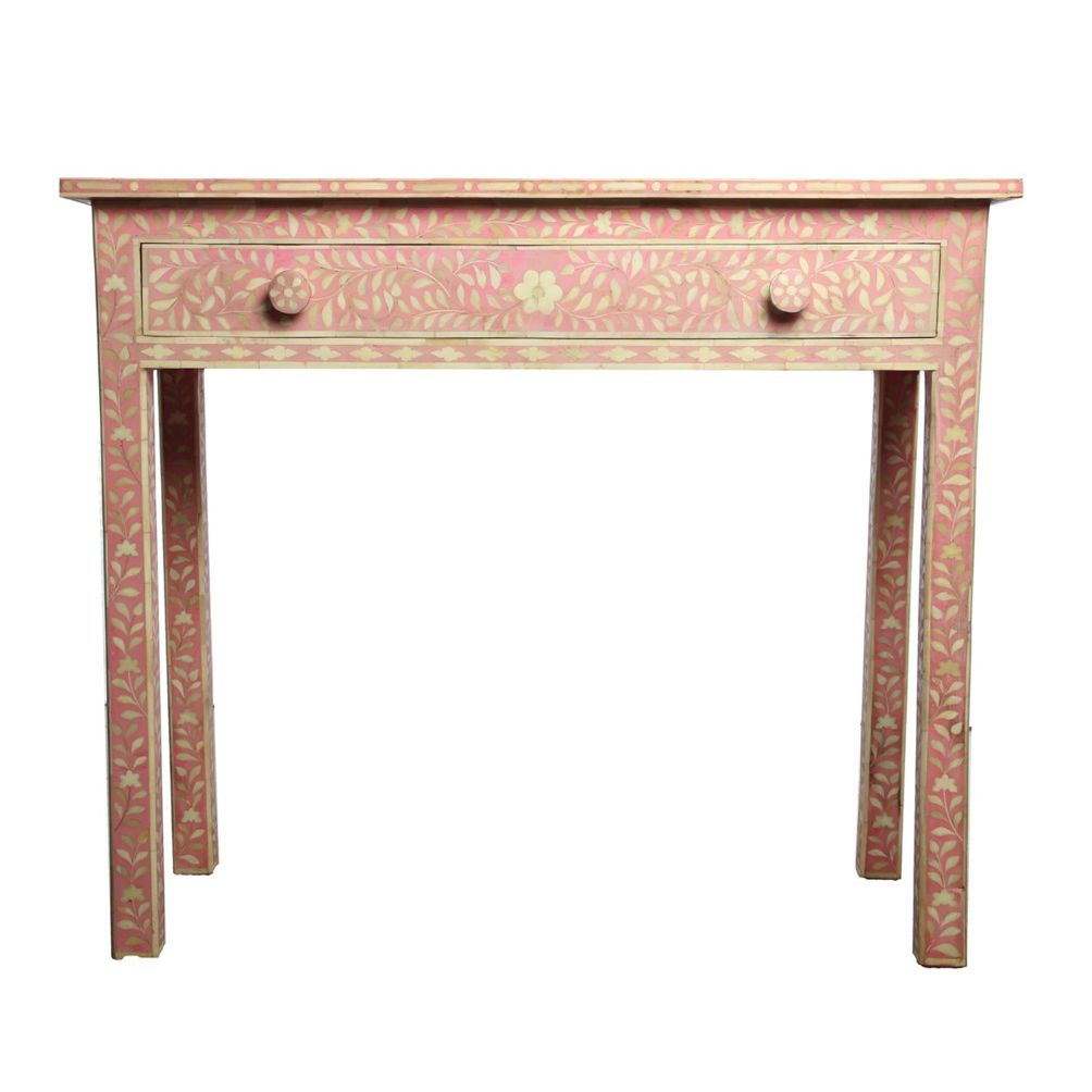Pink bone inlay console table a romantic addition to any stylish pink bone inlay console table a romantic addition to any stylish space our exquisite geotapseo Images