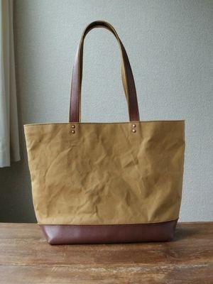nori. トート  canvas + leather