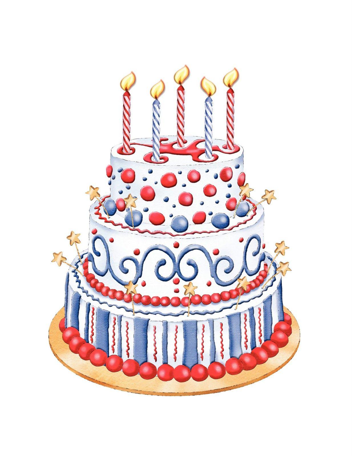 Patriotic+Cake+Clipart[1].JPG (1234×1600) Birthday cake