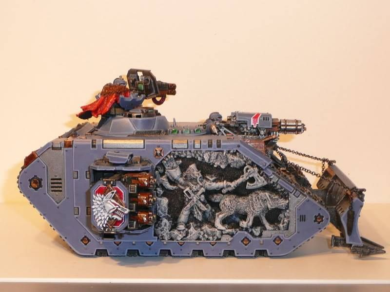 """Laboratorium IX — Amazing """"mural reliefs"""" on this Space Wolves Land... 