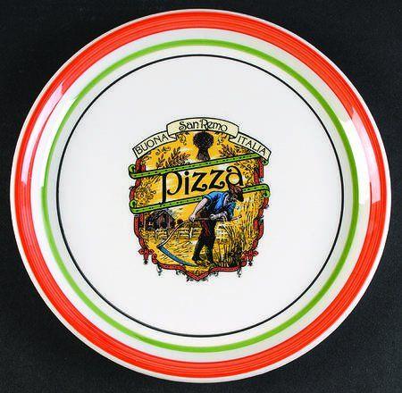 Vintage Mid Century Italian 9 3/4\  Pizza Dinner Plates Himark Ironstone Tableware Made  sc 1 st  Pinterest & Vintage Mid Century Italian 9 3/4\