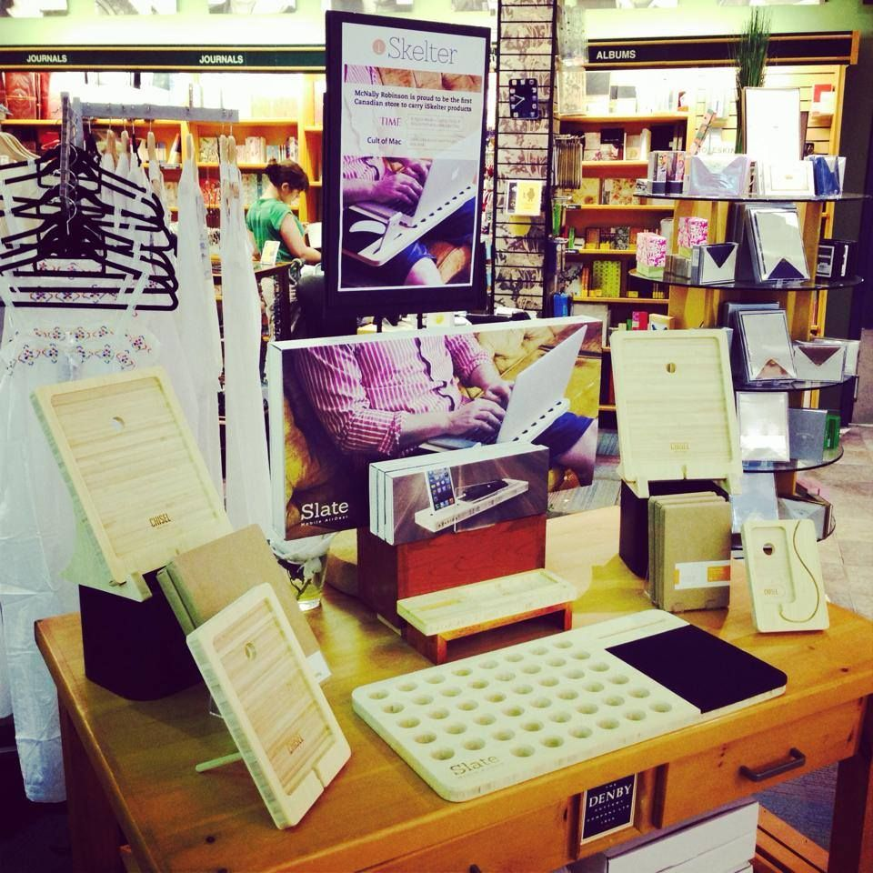 Our display of iSkelter products, as seen in the centre of