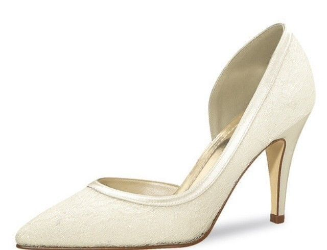 Details Zu Brautschuhe Pumps Rainbow Club Danique Ivory Satin Lace